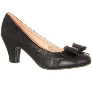 NEW Vintage Pinup Bow High Heel Pumps in Black NWT